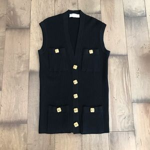 St. John Collection Knit Sleeveless Vest Cardigan